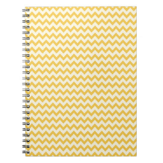 Trendy  Yellow Chevron Stripe Spiral Notebook