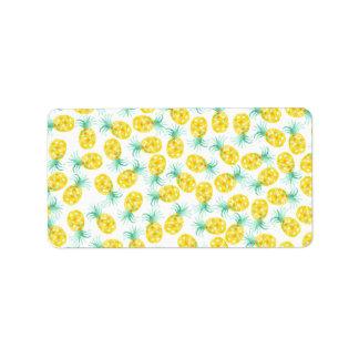 Trendy yellow green watercolor pineapple pattern