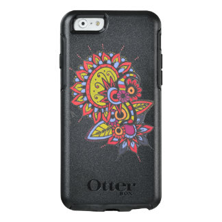 Trendy Zendoodle Red Yellow Blue Mandala Design OtterBox iPhone 6/6s Case