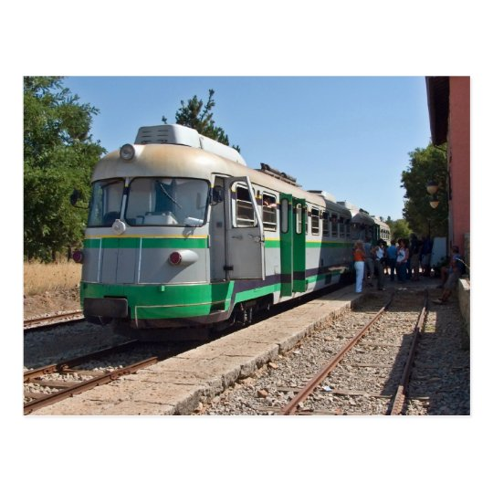 Trenino Verde, The Little Green Train, Sardinia Postcard