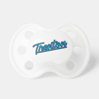 Trenton in cyan baby pacifiers