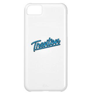Trenton in cyan case for iPhone 5C