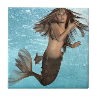 Trépied de sirène de natation petit carreau carré
