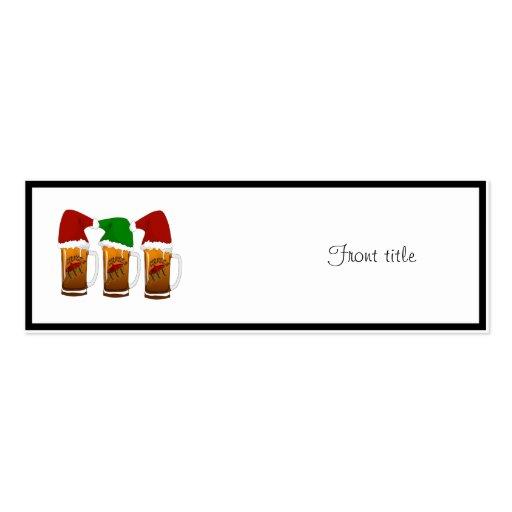 Tres Amigos Christmas Cerveza Business Card Template