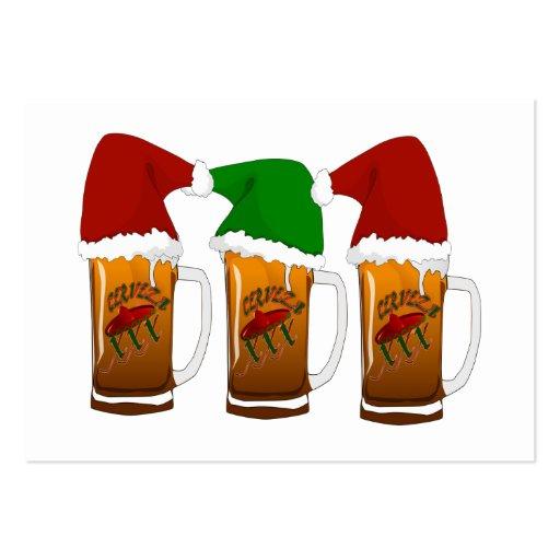 Tres Amigos Christmas Cerveza Business Card