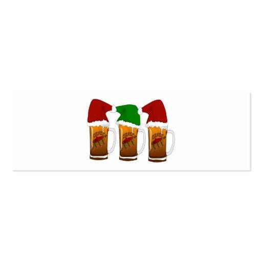 Tres Amigos Christmas Cerveza Business Card Templates