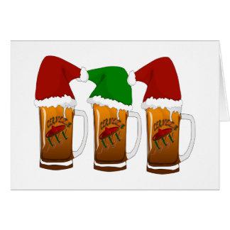 Tres Amigos Christmas Cerveza Card
