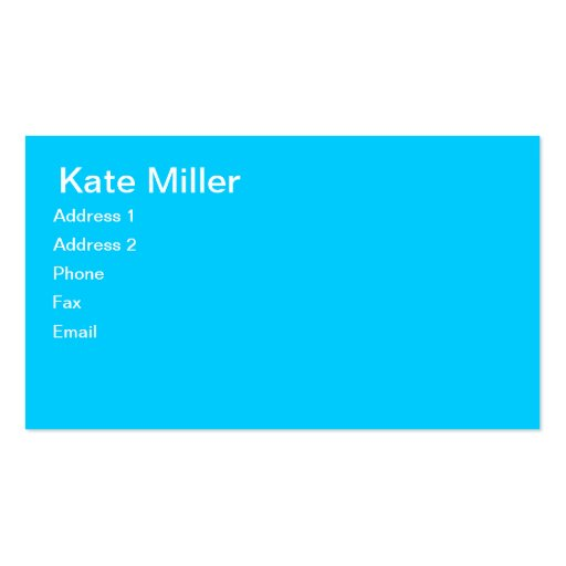 Tres Chic Calling Cards Business Card Template