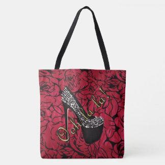 Tres Chic Rouge Fleurs Tote Bag