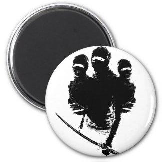 tres ninjas 2 inch round magnet