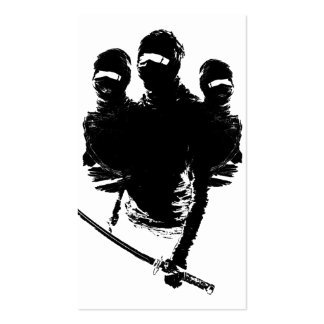 tres ninjas pack of standard business cards