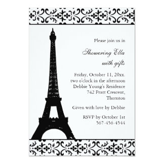 Tres Paris Bridal Shower (white) Card