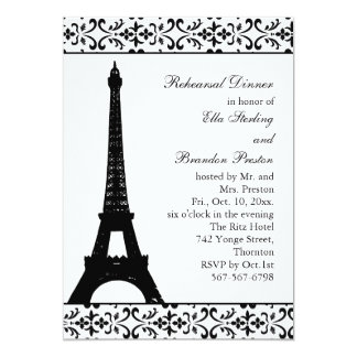 Tres Paris Rehearsal Dinner (white) Card