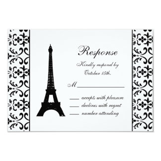 Tres Paris RSVP (white) Card