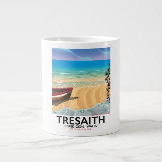 Tresaith, Ceredigion beach Wales seaside poster Large Coffee Mug