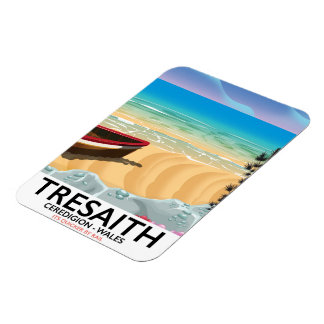 Tresaith, Ceredigion beach Wales seaside poster Magnet