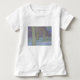 Tress in a park baby romper