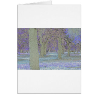 Tress in a park card