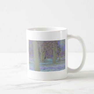 Tress in a park coffee mug