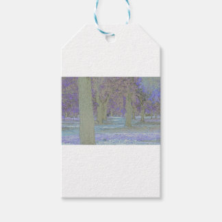 Tress in a park gift tags