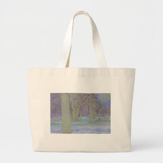 Tress in a park large tote bag