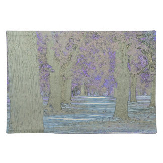 Tress in a park placemat