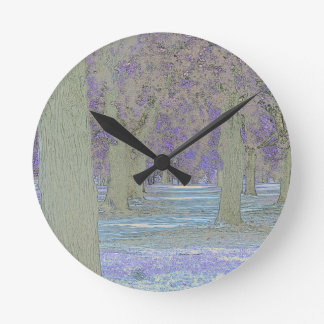Tress in a park round clock