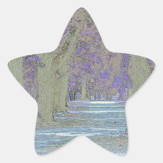 Tress in a park star sticker