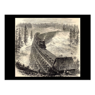 Trestle Bridge on the Pacific Railway Postcard