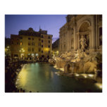 Trevi Fountain at night, Rome, Lazio, Italy Poster