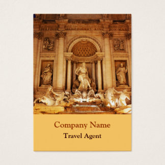 Trevi fountain business card