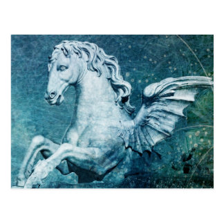 Trevi Fountain Horse Postcard