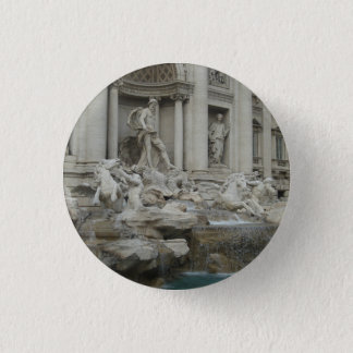 Trevi Fountain in Rome 1 Inch Round Button