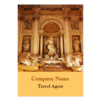 Trevi fountain large business card