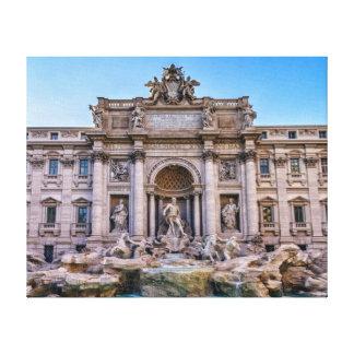 Trevi fountain, Roma, Italy Canvas Print