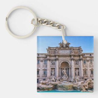 Trevi fountain, Roma, Italy Double-Sided Square Acrylic Keychain