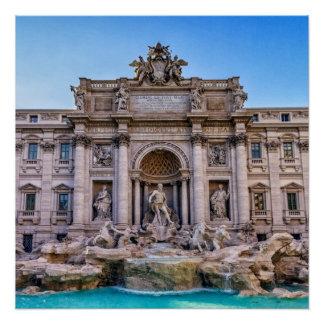 Trevi fountain, Roma, Italy Poster