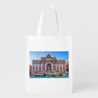 Trevi fountain, Roma, Italy Reusable Grocery Bag