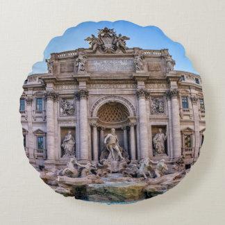 Trevi fountain, Roma, Italy Round Pillow
