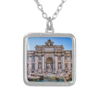 Trevi fountain, Roma, Italy Silver Plated Necklace