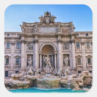 Trevi fountain, Roma, Italy Square Sticker