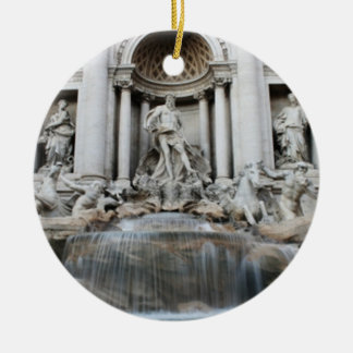Trevi Fountain Rome Ceramic Ornament