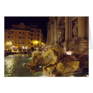 Trevi Fountain, Rome, Italy Card