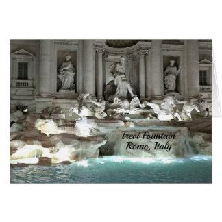 Trevi Fountain, Rome Italy Card