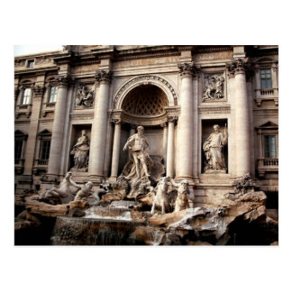 Trevi Fountain Rome Italy Travel Postcard