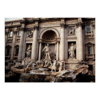 Trevi Fountain Rome Italy Travel Poster
