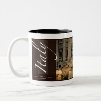 Trevi Fountain, Rome, Italy Two-Tone Coffee Mug