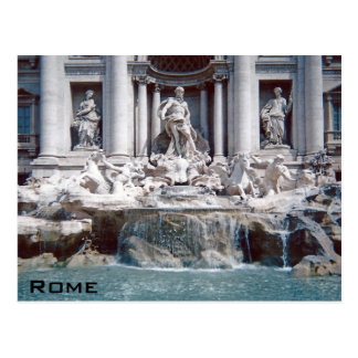 Trevi Fountain Rome Postcard