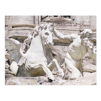 Trevi fountain, Rome Postcard