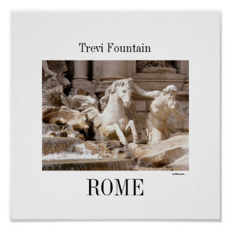 Trevi Fountain, Rome Poster